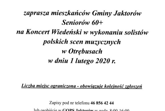 Zaproszenie na Koncert Wiedeński